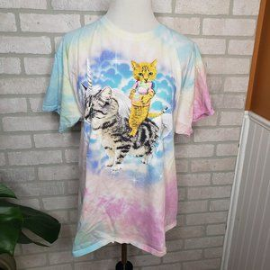 Tops - Social Media Cat Unicorn Tie Dye T